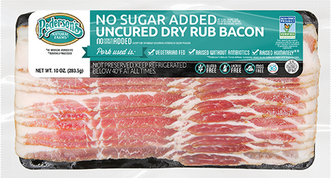 NO SUGAR ADDED UNCURED DRY RUB BACON (4 PACK)
