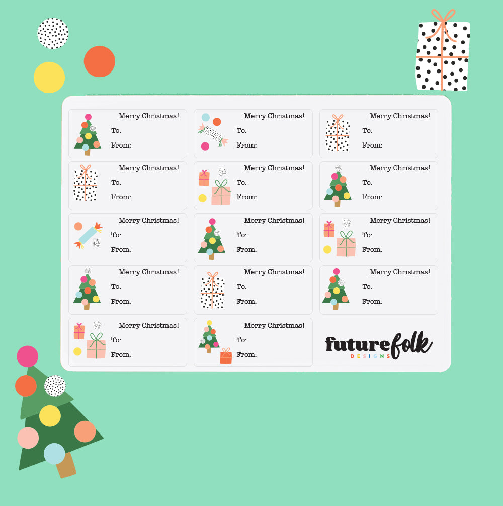 Brook Gossen Christmas Labels - 56 stickers of magic