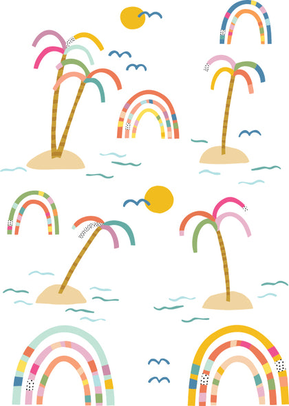 Brook Gossen Rainbow Palms Wall Decals