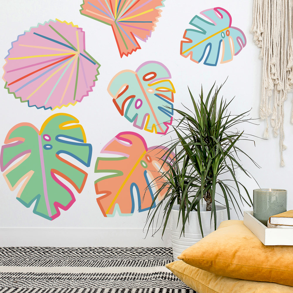 Brook Gossen Monstera Leaves Wall Decals
