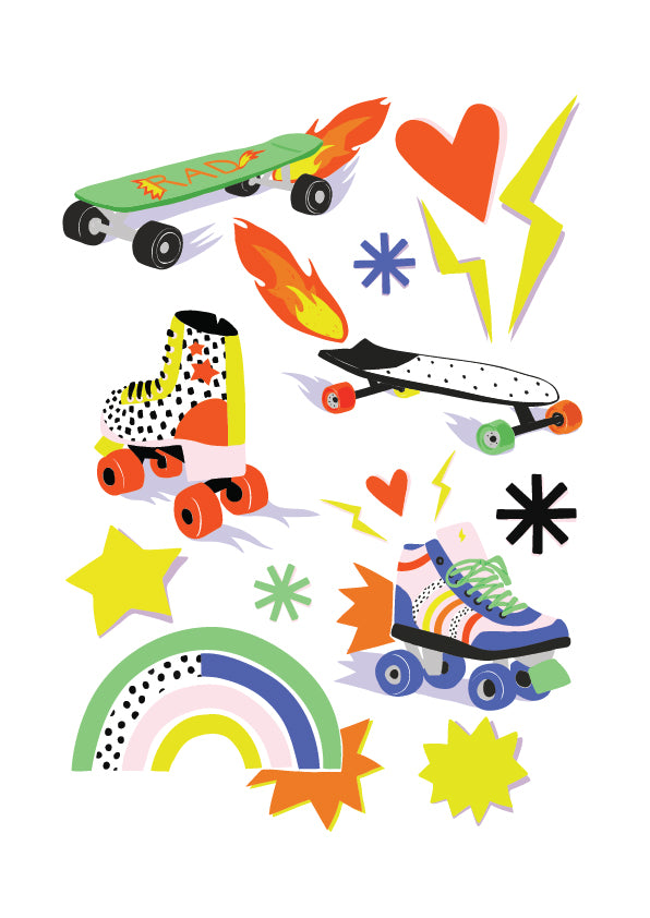 Brook Gossen Skater Sticker Sheet