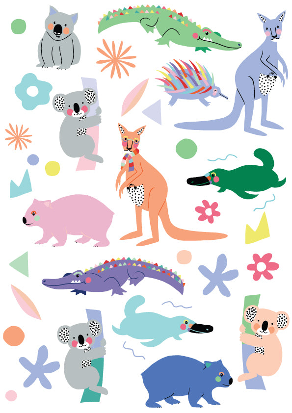 Brook Gossen Aussie Animals Wall Decals