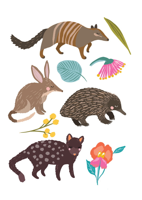 Christie Williams Aussie Animals Sticker Sheet