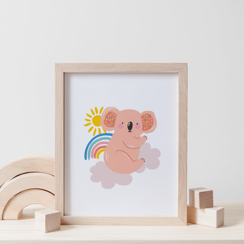 Christie Williams Sunny Koala White Wall Art Print