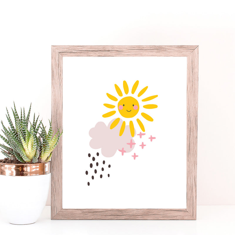 Christie Williams Sunshine Smile White Wall Art Print