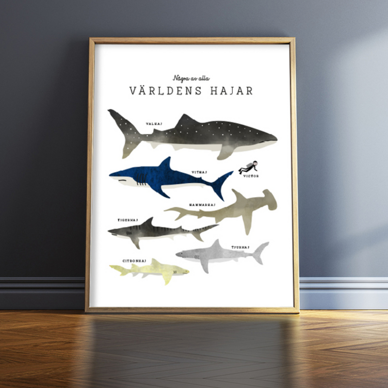 Isa Form Great Sharks Wall Art Print