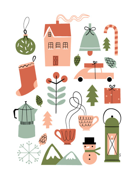 Isa Form European Christmas Wall Decals