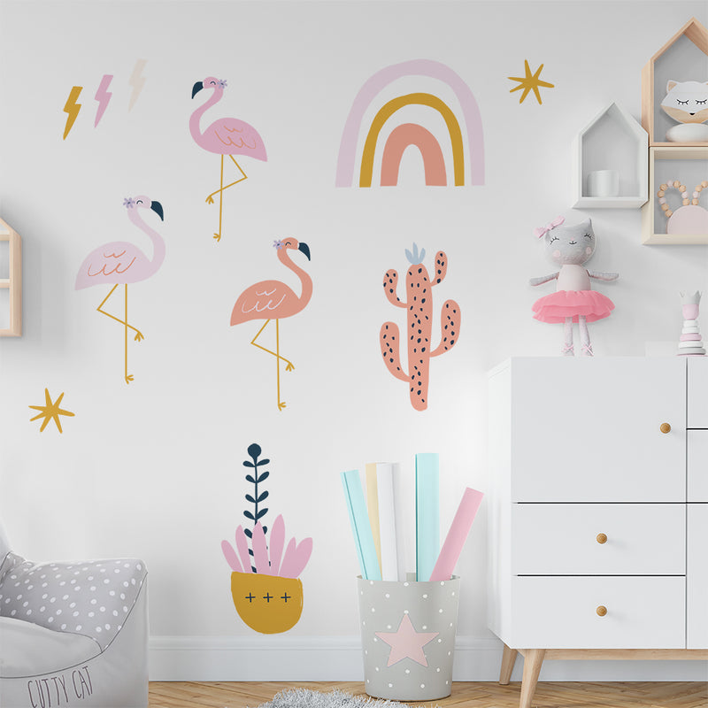 Kat Kalindi Flamingos Wall Decals