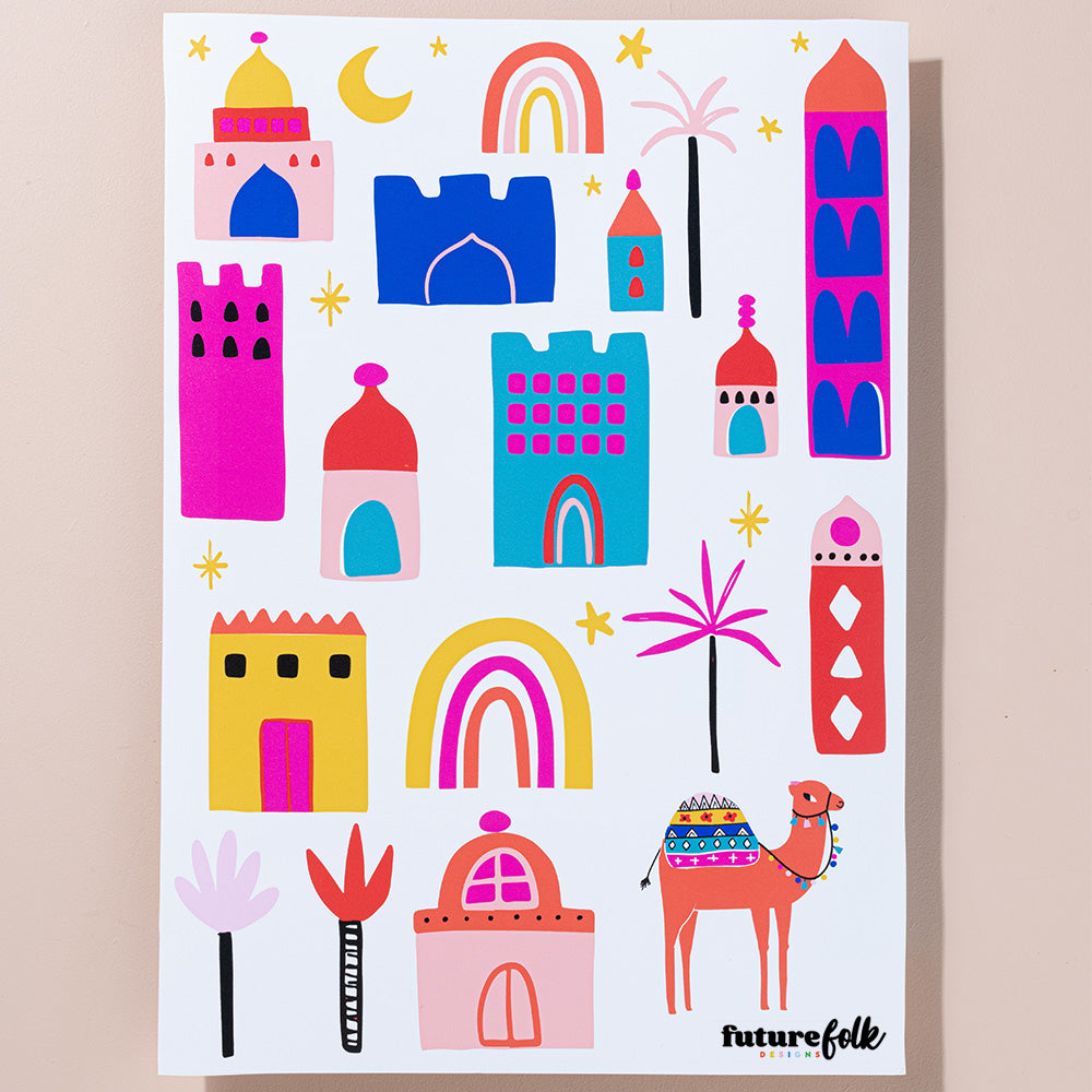 Kat Kalindi Middle East Magic Sticker Sheet