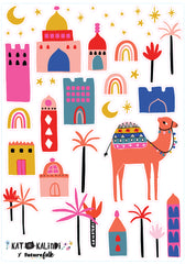 Kat Kalindi Middle East Magic Wall Decals