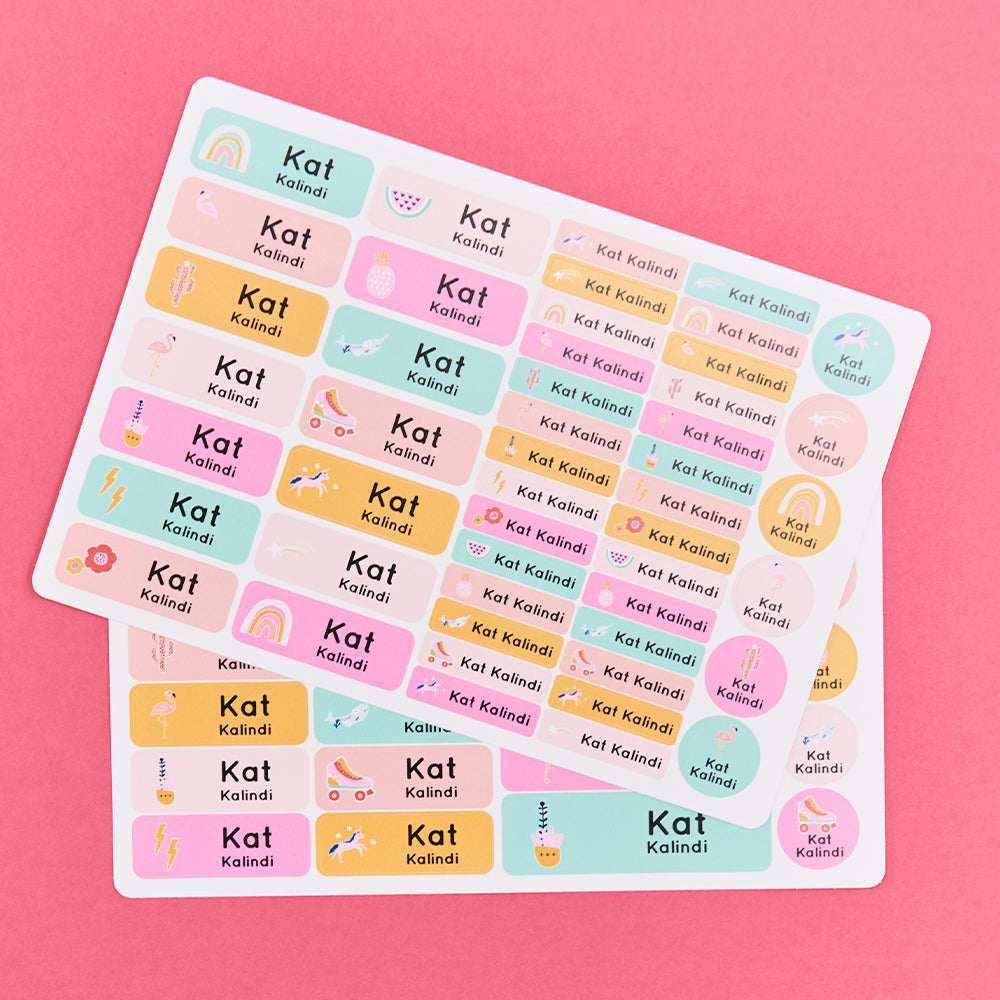 Personalised Sticker Pack - 72 Stickers
