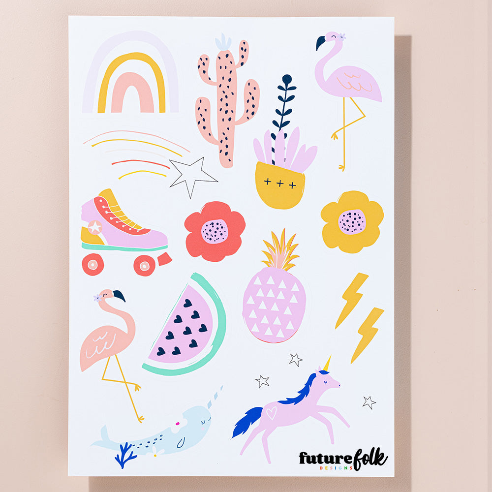 Kat Kalindi Flamingo Sticker Sheet