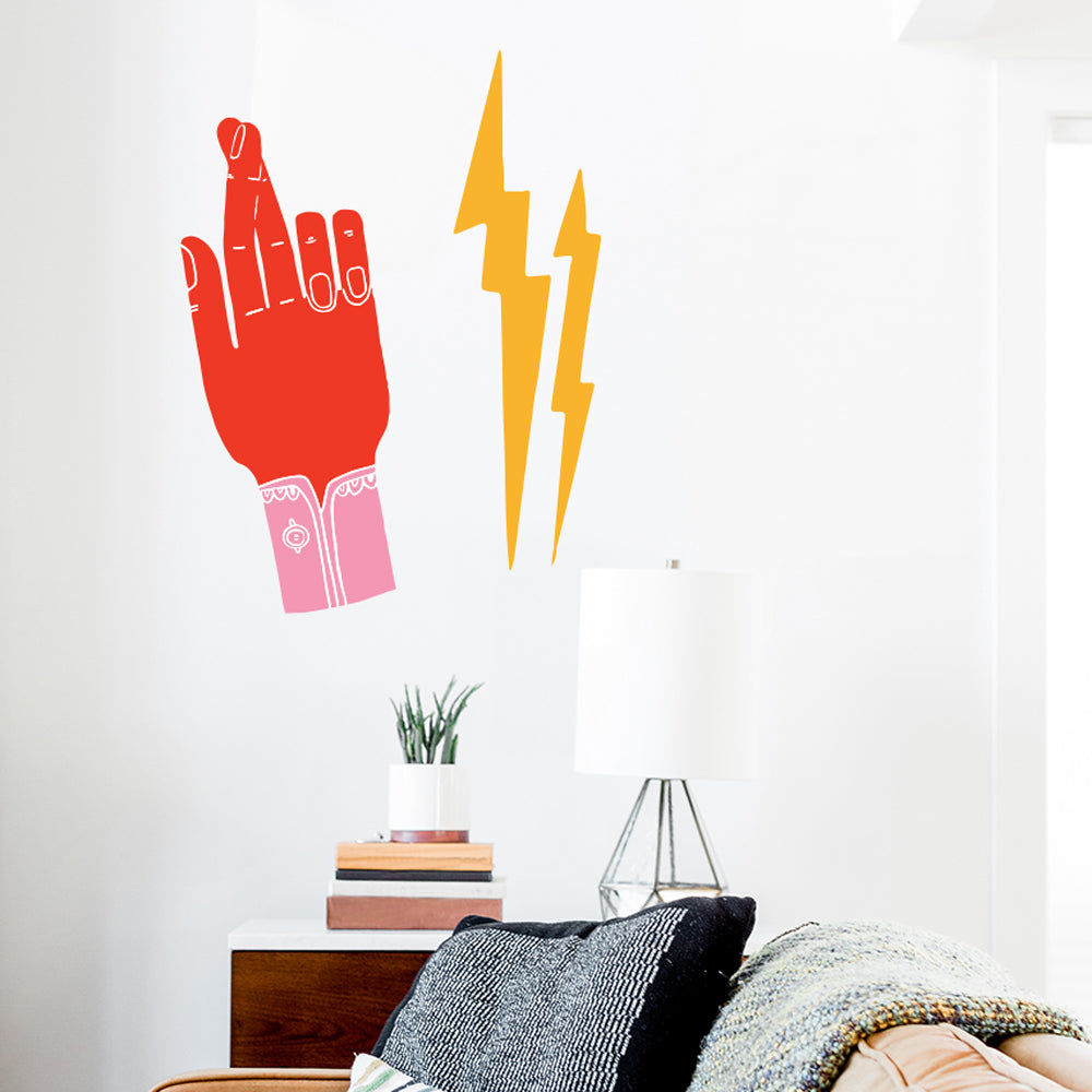 Lisa Congdon Crossing Fingers Wall Decals