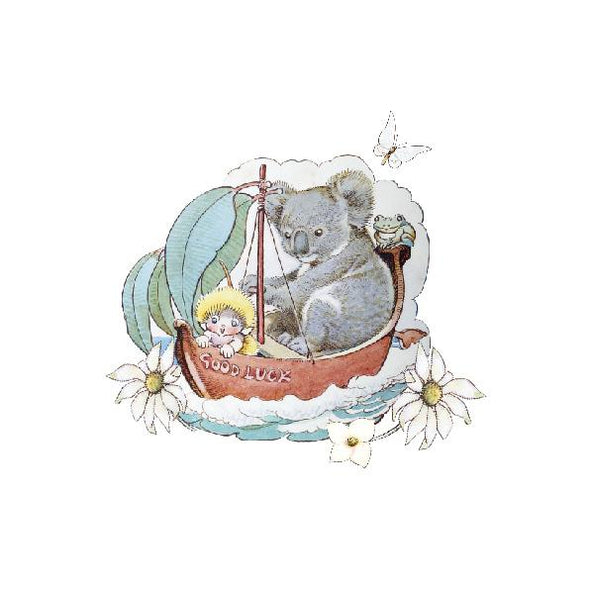 May Gibbs Koala White Wall Art Print