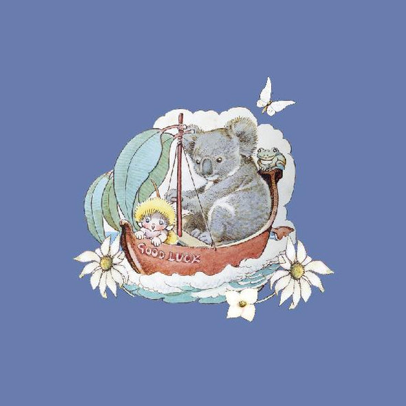 May Gibbs Koala Blue Wall Art Print