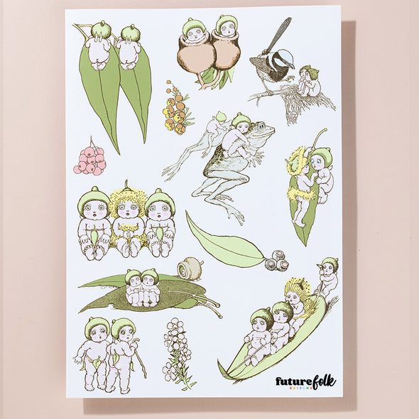 May Gibbs Gumnut Babies Sticker Sheet