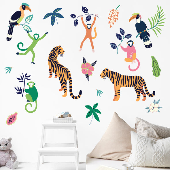 The Tiny Garden Tropical Lush Wall Decals
