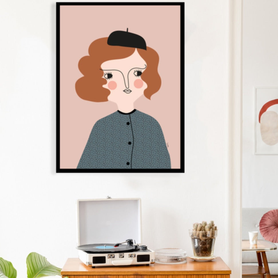 Isa Form Claudine Wall Art Print
