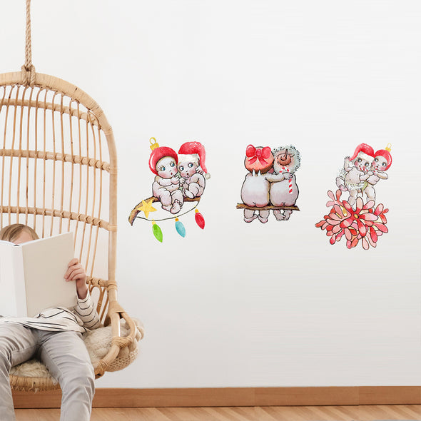 May Gibbs Christmas 3 Gumnut Babies Wall Decals
