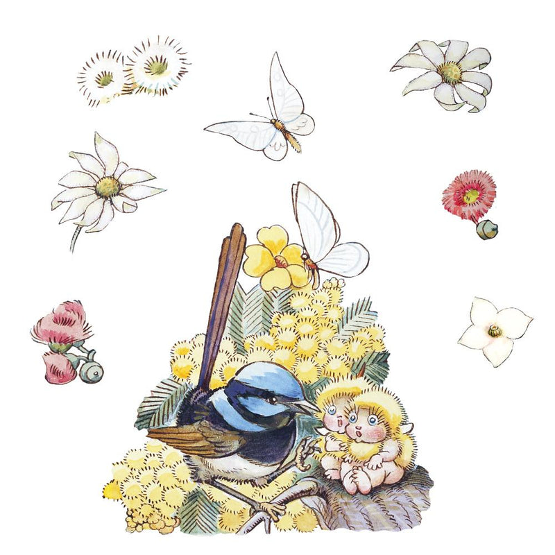 May Gibbs Fairy Wren and Wattle Babies Wall Decals