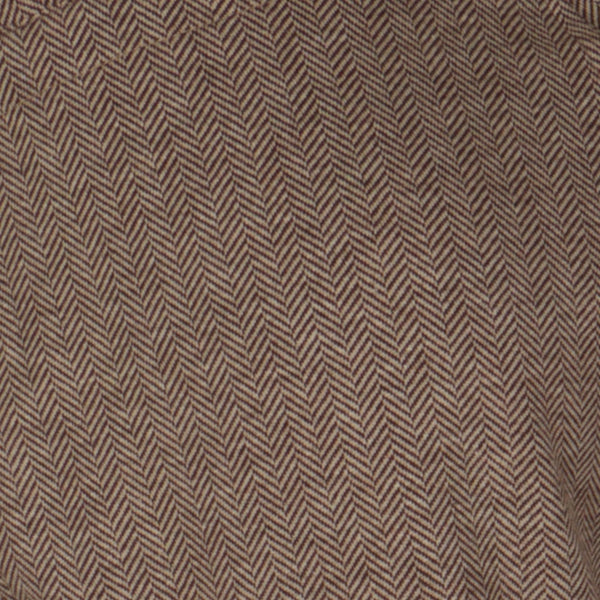 Brown Herringbone Cashmere Sports Trousers