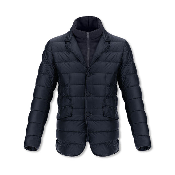 Navy Nylon Ultralight Blazer With Fleece Bib