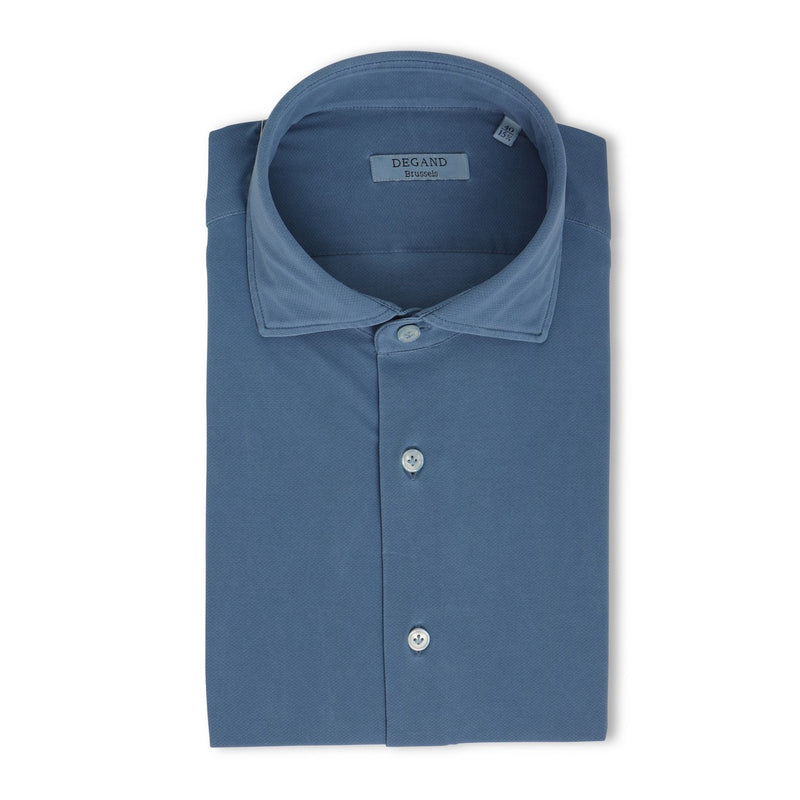 Plain Jeans Blue Tekno Slim Shirt