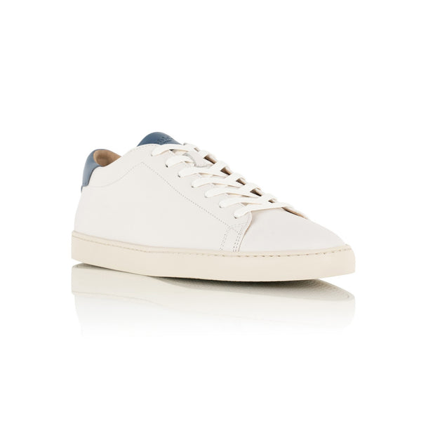 Dan Sneakers in Off White and Blue Leather