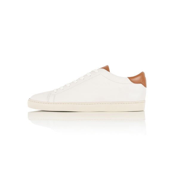 Dan Sneakers in Off White and Summer Camel Leather