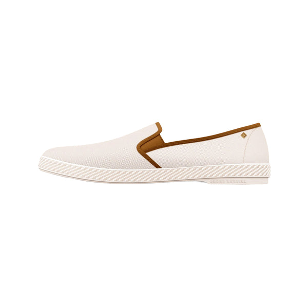 White 'Les Champs Chantilly' Espadrille in Oxford Cotton