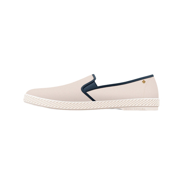 White 'Les Champs Vincennes' Espadrilles in Oxford Cotton