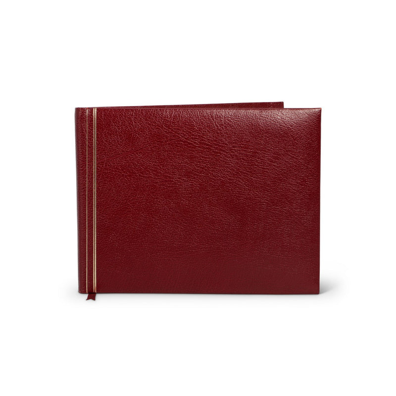 Burgundy Leather Guestbook