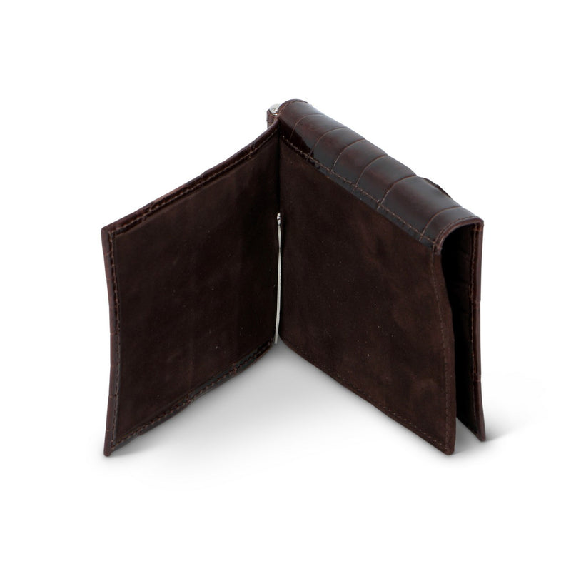 Moro Crocodile Leather Banknotes Holder and Wallet