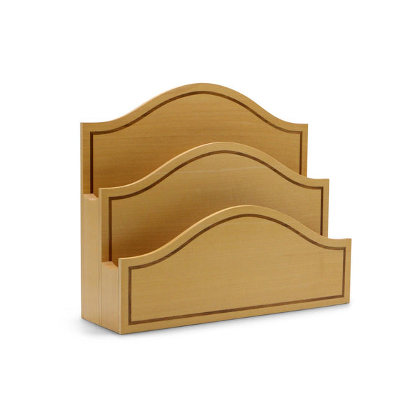 Light Brown Sycomore Letter Rack