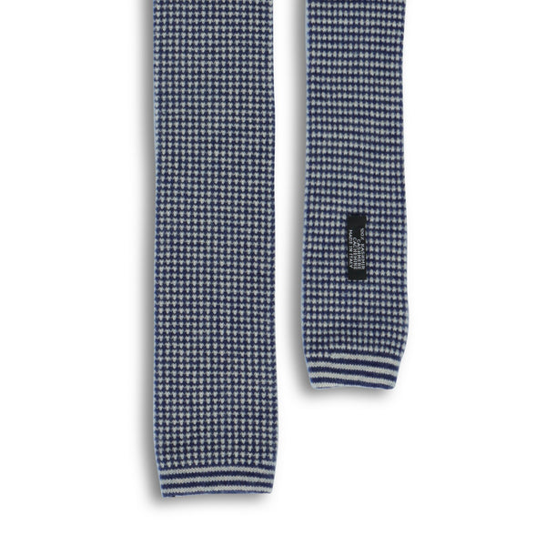 Blue and White Knitted Fantasy Tie