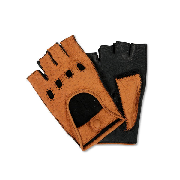 Peccary mittens natural-black colour Driving Gloves