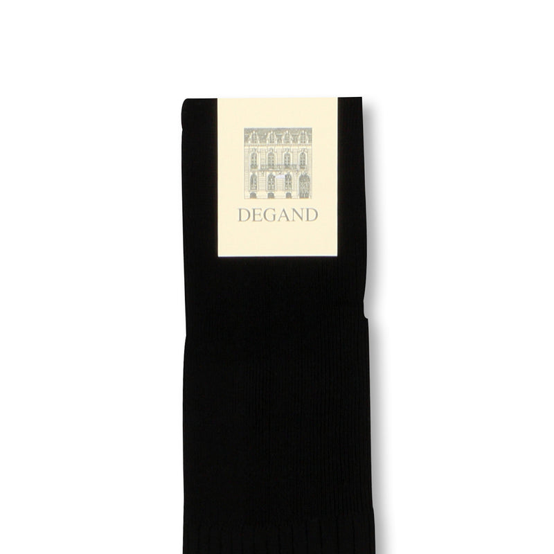 Plain Black Scotland Thread Long Socks