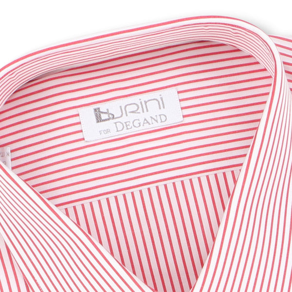 Striped Red Double Cuff Shirt