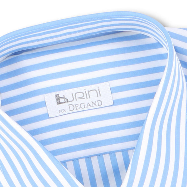 Striped Blue Double Cuff Shirt