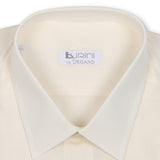 Plain Cream Beige Double Cuff Shirt