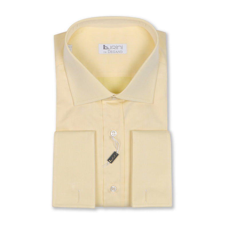 Plain Yellow Double Cuff Shirt