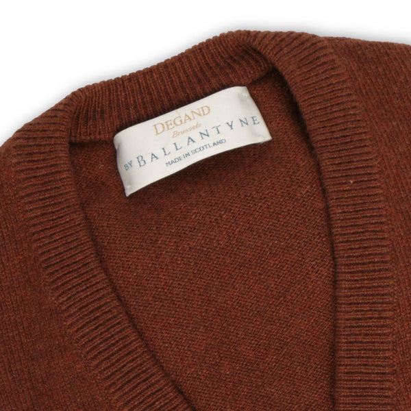 Fired Earth Cashmere V-Neck Pullover