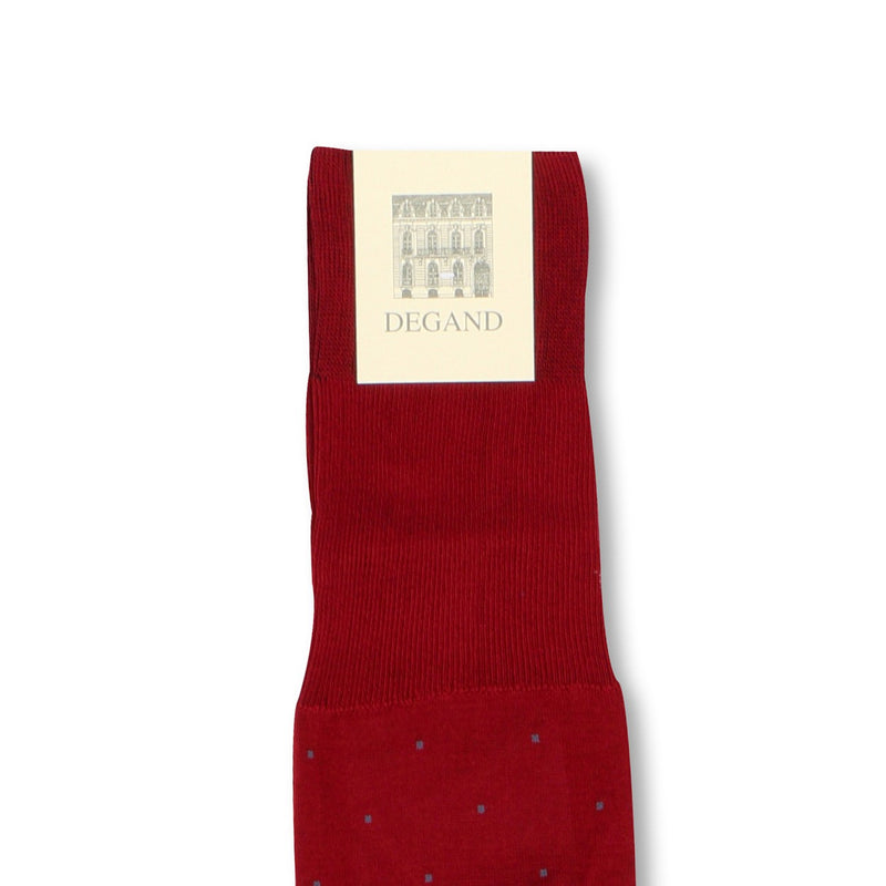 Dots Ruby and Jeans Scotland Thread Long Socks