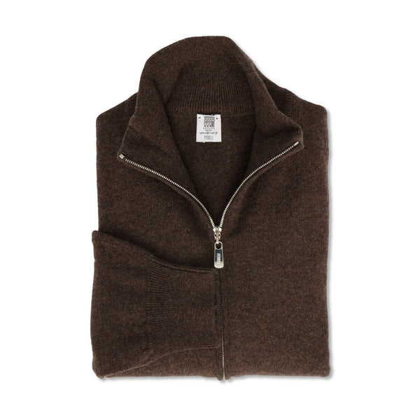 Porcospino Cashmere Zipped Cardigan