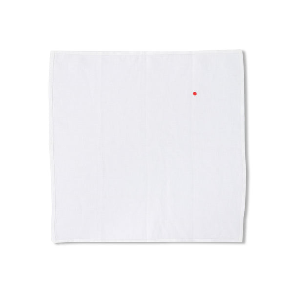 Plain Red Dot Pocket Square
