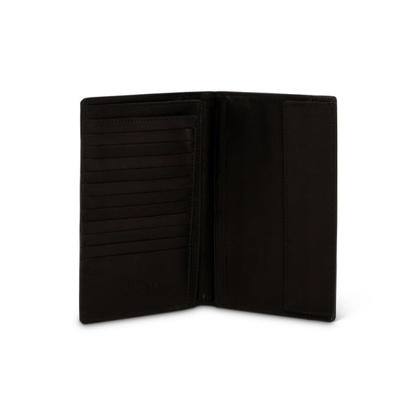Black Lamb Leather Travel Wallet