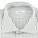 Striped Green Double Cuff Shirt