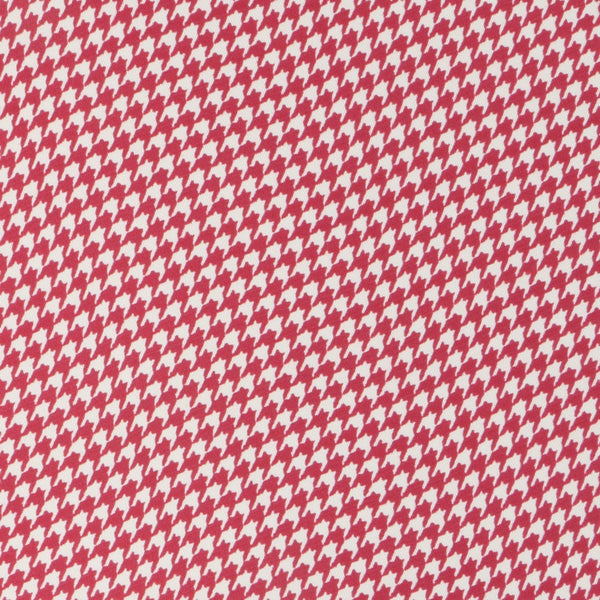 Red Houndstooth Silk Pocket Square