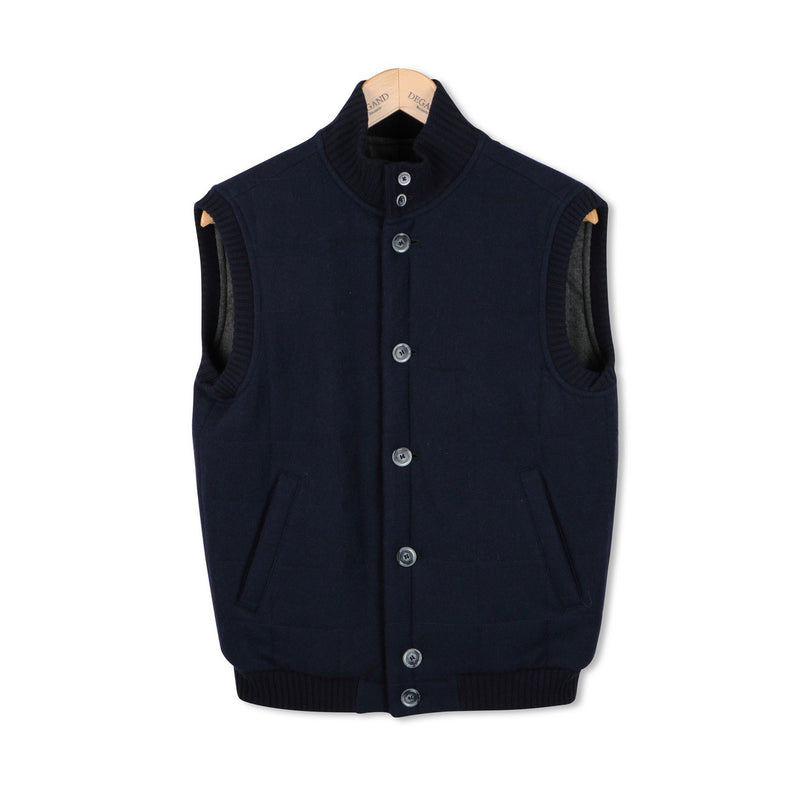 Navy Quilted Gilet