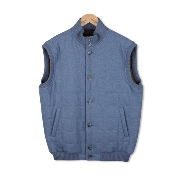 Jeans Blue Quilted Gilet